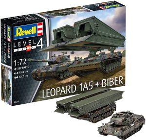 Los mejores puzzles de tanques - Puzzle de tanque Leopard 1A5 de 337 piezas en 3D