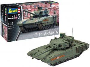 Los mejores puzzles de tanques - Puzzle de tanque T-14 de 410 piezas en 3D de Revell