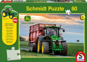 Los mejores puzzles de tractores - Puzzle de tractor al atadecer de 60 piezas de Schmidt