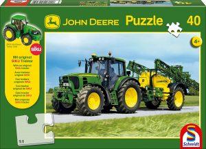 Los mejores puzzles de tractores - Puzzle de tractor con herramientas de 40 piezas de Schmidt