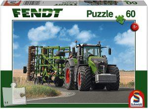 Los mejores puzzles de tractores - Puzzle de tractor con herramientas de 60 piezas de Schmidt