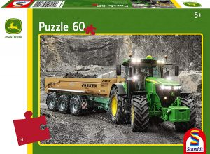 Los mejores puzzles de tractores - Puzzle de tractor de 60 piezas con fondo en blanco y negro de Schmidt