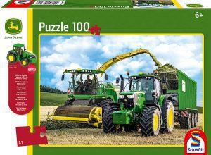Los mejores puzzles de tractores - Puzzle de tractor de John Deere de 100 piezas de Schmidt