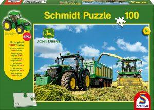 Los mejores puzzles de tractores - Puzzle de tractores con forraje de 100 piezas de Schmidt