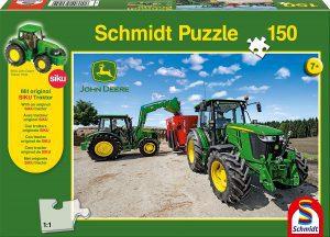 Los mejores puzzles de tractores - Puzzle de tractores de John Deere de 150 piezas de Schmidt