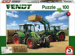 Los mejores puzzles de tractores - Puzzle de tractores trabajando de 100 piezas de Schmidt