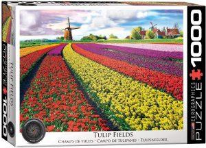 Los mejores puzzles de tulipanes - Puzzle de campo de tulipanes de 1000 piezas de Eurographics