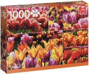 Los mejores puzzles de tulipanes - Puzzle de tulipanes holandeses de 1000 piezas de Jumbo