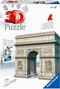 Los mejores puzzles del Arco del Triunfo - Puzzle del Arco del Triunfo en 3D de 216 piezas de Ravensburger