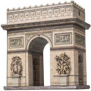 Los mejores puzzles del Arco del Triunfo - Puzzle del Arco del Triunfo en 3D de Clever Paper