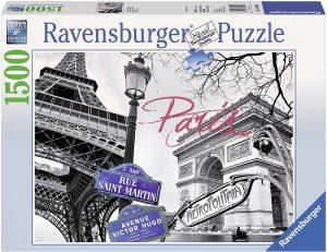 Los mejores puzzles del Arco del Triunfo - Puzzle del Arco del Triunfo y la Torre Eiffel de 1500 piezas de Ravensburger
