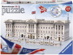 Los mejores puzzles del Buckingham Palace en 3D de Londres - Puzzle del Palacio de Buckingham en 3D de 216 piezas de Ravensburger