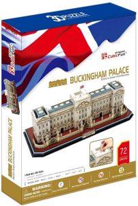 Los mejores puzzles del Buckingham Palace en 3D de Londres - Puzzle del Palacio de Buckingham en 3D de 72 piezas de CubicFun