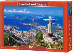 Los mejores puzzles del Cristo Redentor de Brasil - Puzzle de Cristo Redentor de Río de Janeiro de 1000 piezas de Castorland