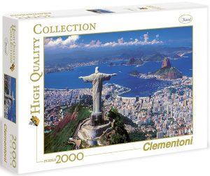 Los mejores puzzles del Cristo Redentor de Brasil - Puzzle de Cristo Redentor de Río de Janeiro de 2000 piezas de Clementoni