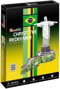 Los mejores puzzles del Cristo Redentor de Brasil - Puzzle de Cristo Redentor de Río de Janeiro en 3D de 22 piezas de CubicFun