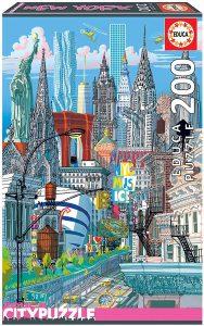 Los mejores puzzles del Empire State Building de Nueva York - Puzzle de monumentos de Nueva York del Empire State Building de 200 piezas de Educa