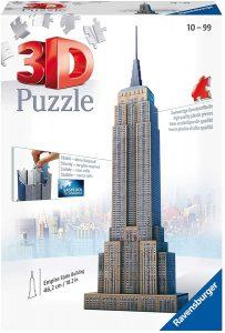 Los mejores puzzles del Empire State Building en 3D de Nueva York - Puzzle del Empire State Building en 3D de 216 piezas de Ravensburger