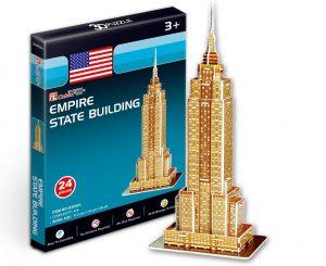 Los mejores puzzles del Empire State Building en 3D de Nueva York - Puzzle del Empire State Building en 3D de 24 piezas de CubicFun Mini