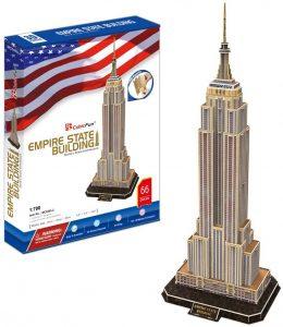 Los mejores puzzles del Empire State Building en 3D de Nueva York - Puzzle del Empire State Building en 3D de 66 piezas de CubicFun