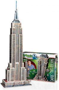 Los mejores puzzles del Empire State Building en 3D de Nueva York - Puzzle del Empire State Building en 3D de 975 piezas de Wrebbit