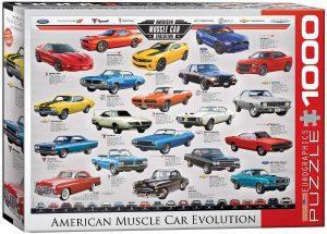 Los mejores puzzles del Ford Mustang - Puzzle de American Muscle Car Evolution de 1000 piezas de Eurographics