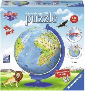 Los mejores puzzles del Globo Terráqueo en 3D - Puzzles de la bola de mundo en 3D - Puzzle del Globo Terráqueo en 3D de Ravensburger de 180 piezas para niños 2