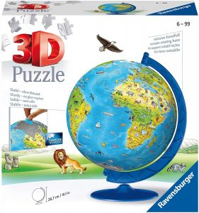 Los mejores puzzles del Globo Terráqueo en 3D - Puzzles de la bola de mundo en 3D - Puzzle del Globo Terráqueo en 3D de Ravensburger de 180 piezas para niños