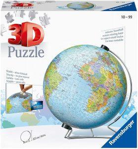 Los mejores puzzles del Globo Terráqueo en 3D - Puzzles de la bola de mundo en 3D - Puzzle del Globo Terráqueo en 3D de Ravensburger de 540 piezas