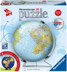 Los mejores puzzles del Globo Terráqueo en 3D - Puzzles de la bola de mundo en 3D - Puzzle del Globo Terráqueo en 3D de Ravensburger de 540 piezas en aleman