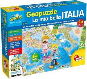 Los mejores puzzles del Mapa de Italia - Puzzle de mapa de Italia de 108 piezas de Lisciani 2 en 1
