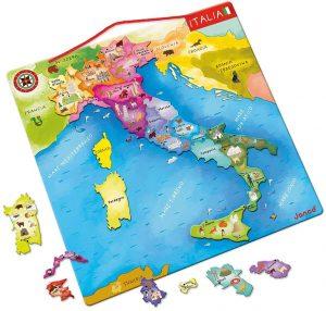 Los mejores puzzles del Mapa de Italia - Puzzle de mapa de Italia de 20 piezas de Janod magnético