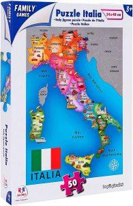 Los mejores puzzles del Mapa de Italia - Puzzle de mapa de Italia de 50 piezas de Family Games