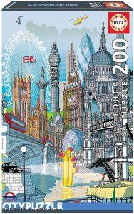 Los mejores puzzles del Palacio de Buckingham - Puzzle de monumentos de Londres de 200 piezas de Educa