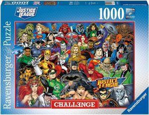 Puzzle de Justice League Challenge de 1000 piezas de Ravensburger - Los mejores puzzles de DC de la Liga de la Justicia