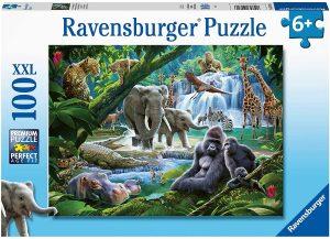 Puzzle de animales de la jungla de 100 piezas de Ravensburger - Los mejores puzzles de animales