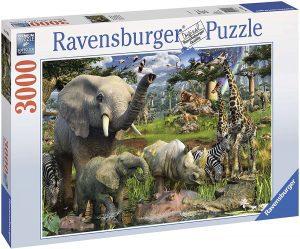 Puzzle de animales de la jungla de 3000 piezas de Ravensburger - Los mejores puzzles de animales