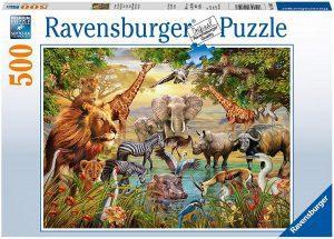 Puzzle de animales de la jungla de 500 piezas de Ravensburger - Los mejores puzzles de animales