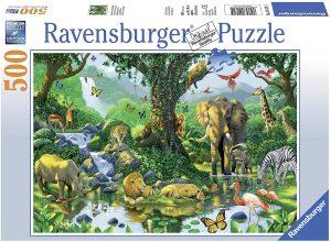 Puzzle de animales en grupos de 500 piezas de Ravensburger - Los mejores puzzles de animales - Puzzle de animal