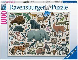 Puzzle de ilustraciones de animales de 1000 piezas de Ravensburger - Los mejores puzzles de animales
