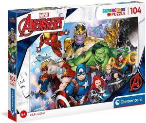 Puzzle de los Vengadores de Marvel de 104 piezas de Clementoni - Los mejores puzzles de Marvel