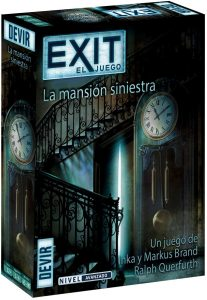 Exit La mansión siniestra - Juegos de mesa de Exit - Los mejores juegos de mesa de cartas y escape room de Exit