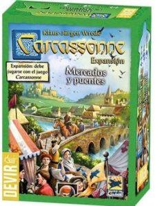 Expansión Carcassonne Mercados y Puentes - Juegos de mesa de Carcassonne - Los mejores juegos de mesa de estrategia de Carcassonne