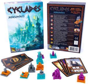 Expansión juego de mesa de Cyclades Monuments - Juego de cartas y tablero - Juegos de mesa de expansión de Cyclades - Los mejores juegos de mesa de cartas de Cyclades