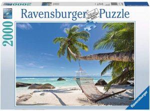 Puzzle de Hamaca en la Playa de 2000 piezas de Ravensburger - Los mejores puzzles de Hawái - Hawaii - Puzzle de Hawaii