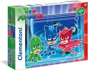 Puzzle de Pj Masks MAXI de 104 piezas de Clementoni - Los mejores puzzles de Pj Masks de dibujos animados
