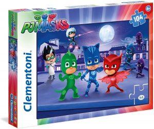 Puzzle de Pj Masks de 104 piezas de Clementoni - Los mejores puzzles de Pj Masks de dibujos animados