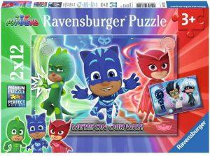 Puzzle de Pj Masks de 2x12 piezas de Ravensburger - Los mejores puzzles de Pj Masks de dibujos animados