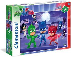 Puzzle de Pj Masks de 60 piezas de Clementoni - Los mejores puzzles de Pj Masks de dibujos animados