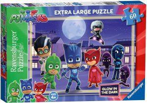Puzzle de Pj Masks oscuridad de 60 piezas de Ravensburger - Los mejores puzzles de Pj Masks de dibujos animados